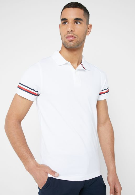 Iconic Taped Sleeve  Polo