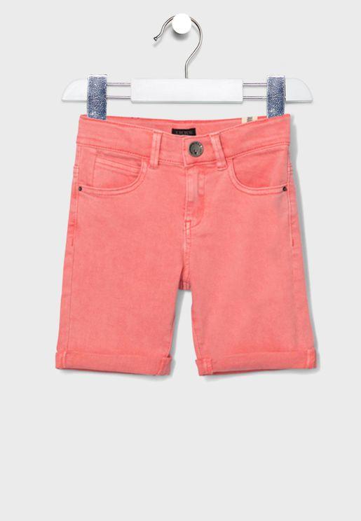 Kids Adjustable Waistband Shorts
