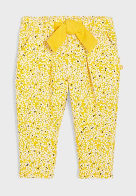 Infant Printed Tie Waist Sweat Pants
