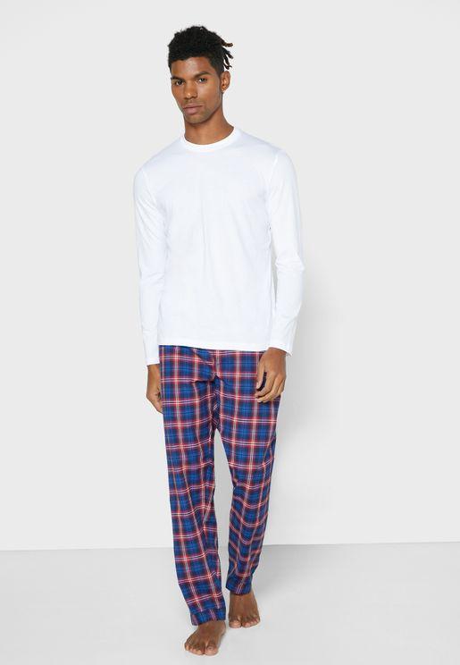 Check PJ  T Shirt Set