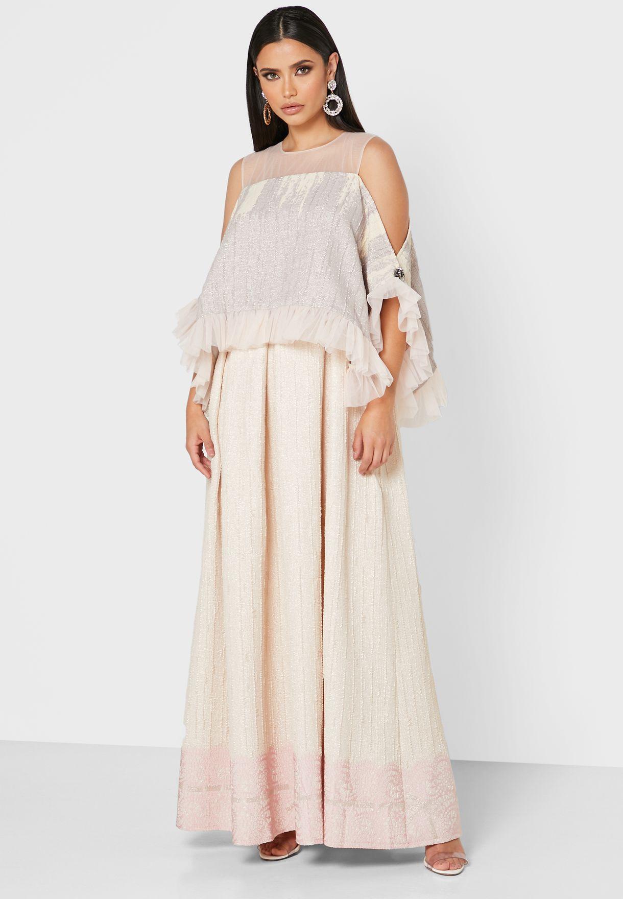 Soft Jacquard Kaftan Dress