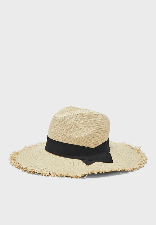 Straw Western Bucket Hat