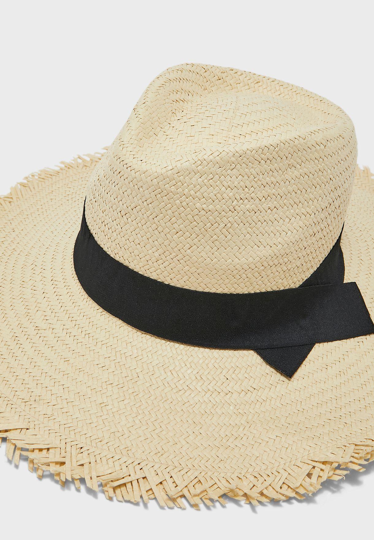 Straw Western Bucket Hat