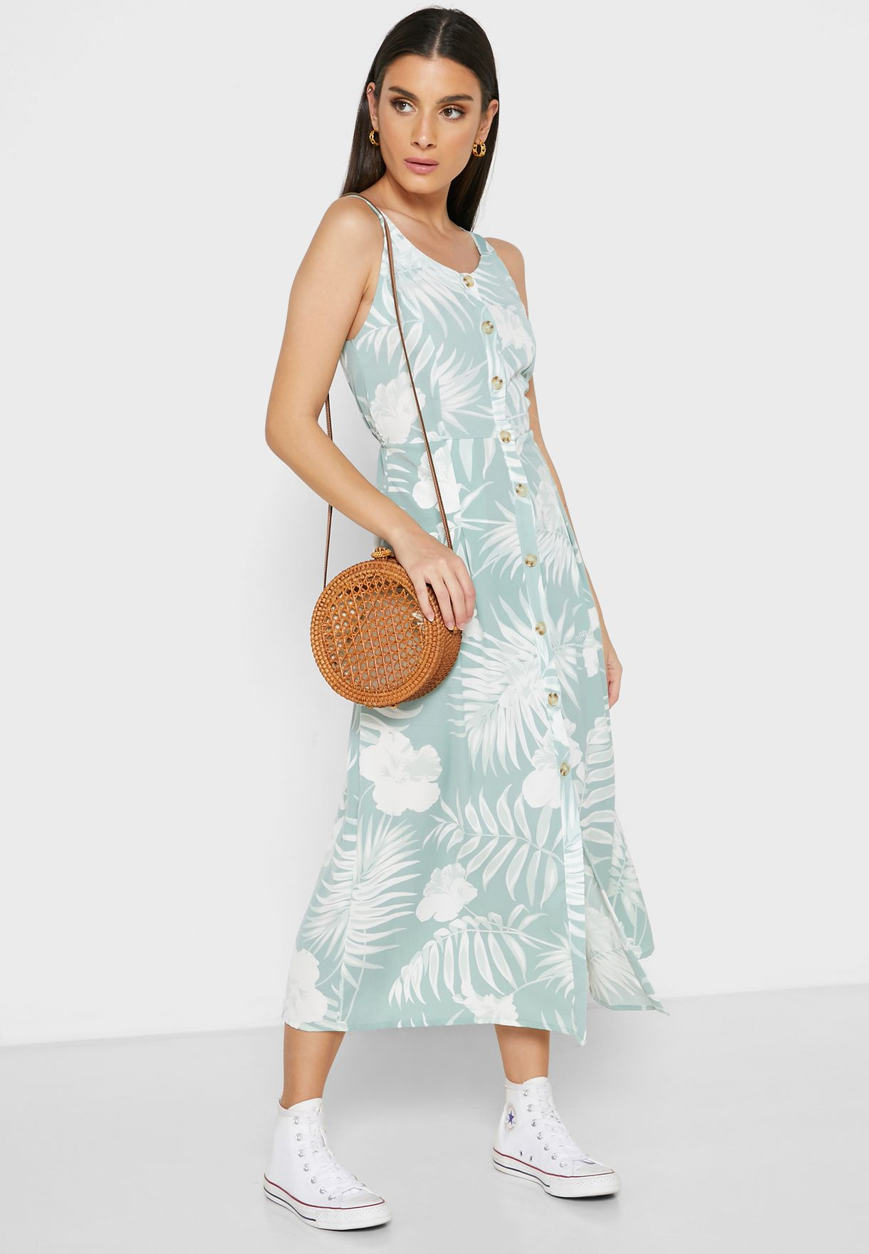 فستان ميدي بطبعات