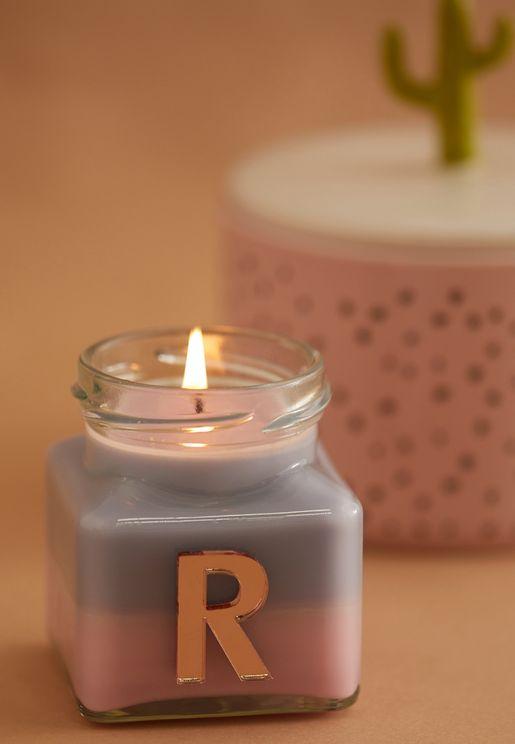 Vanilla Ylang Ylang Initial R Candle