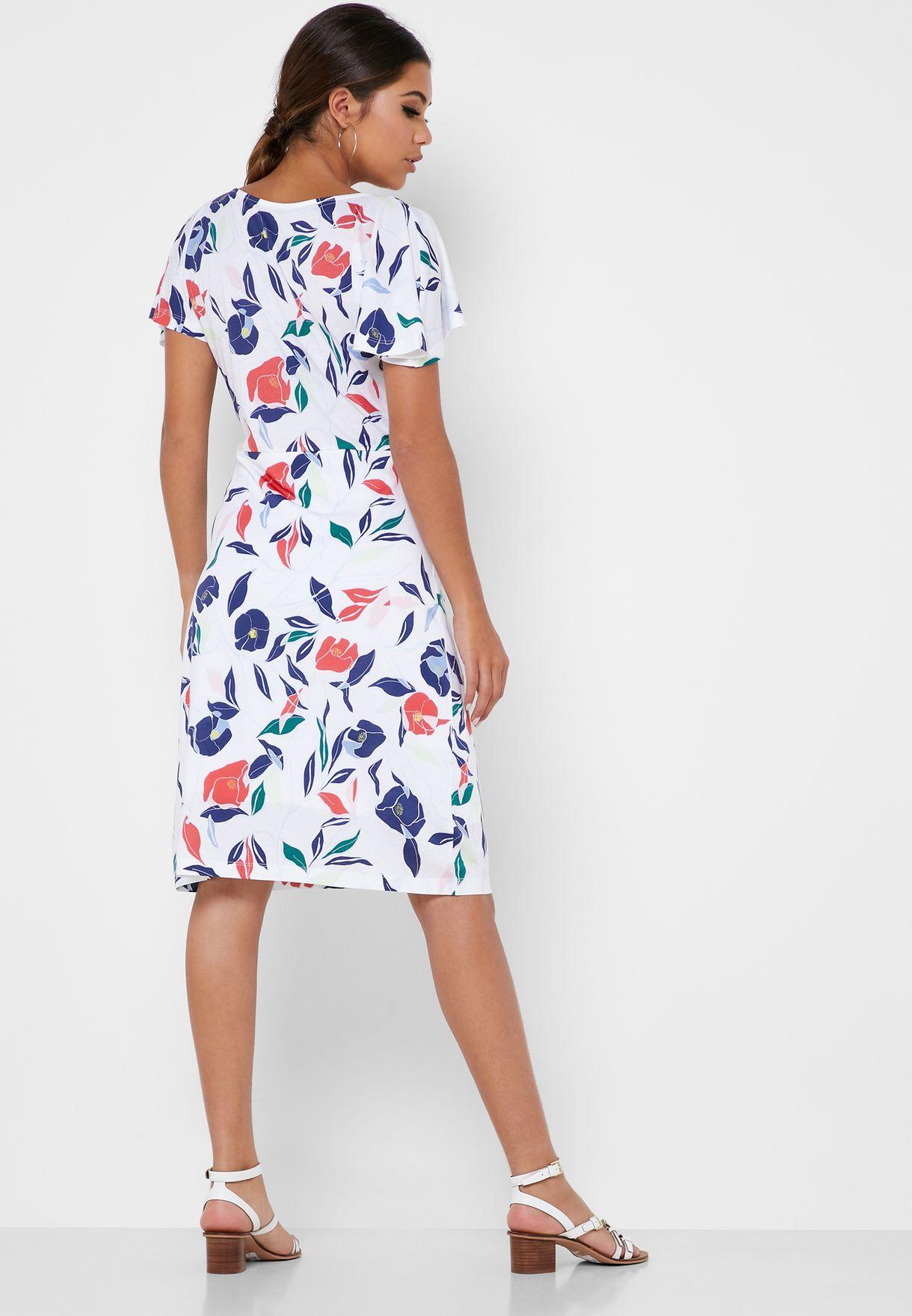 فستان سكاتر بطباعة ازهار