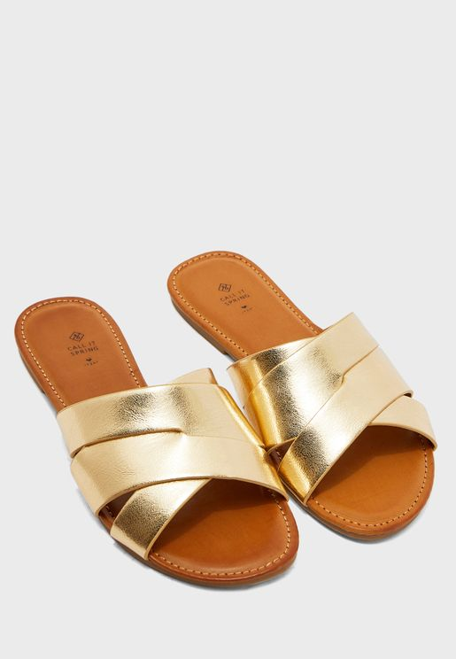 Billie Multi Strap Flat Sandal