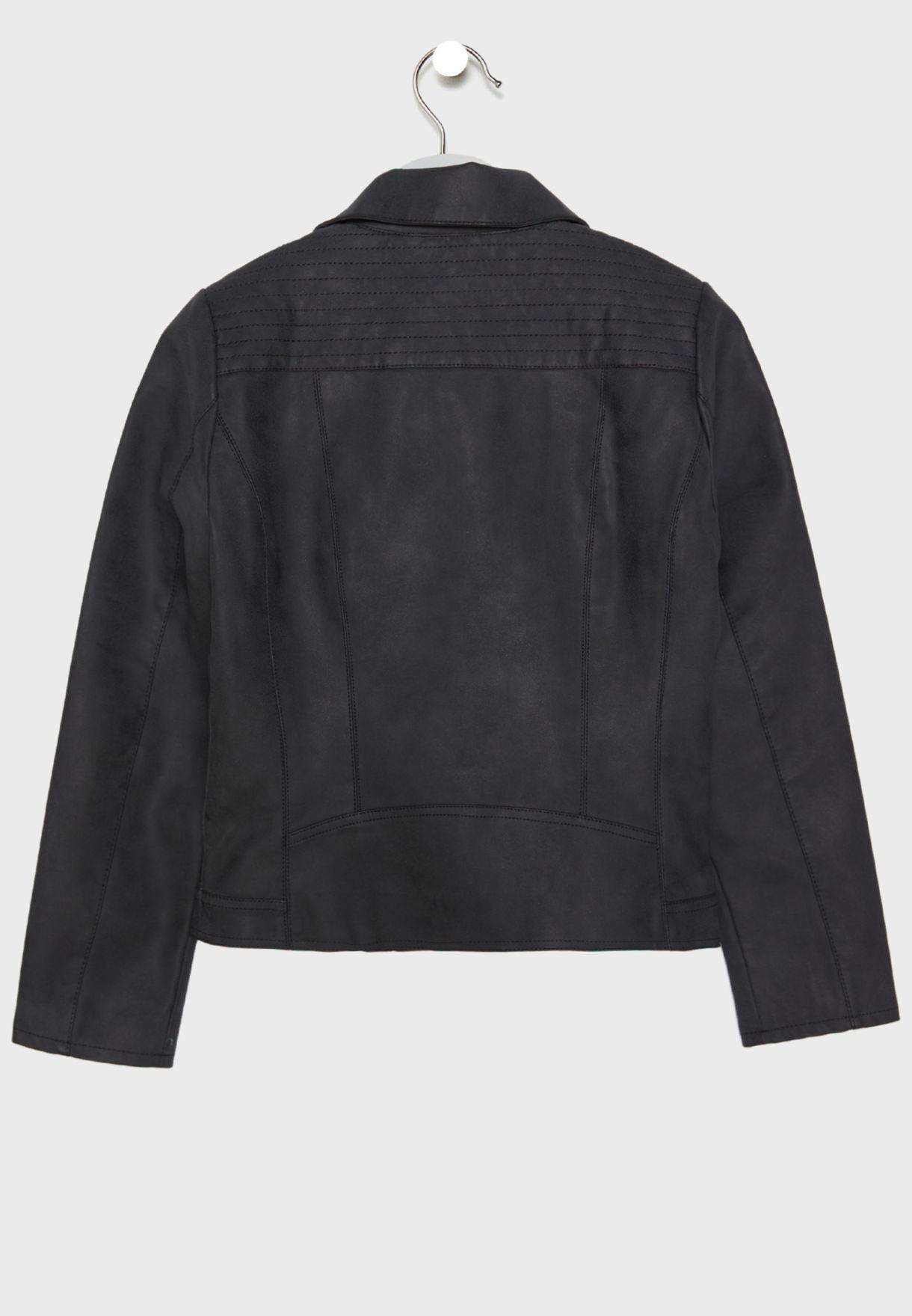 Teen Leather Biker Jacket