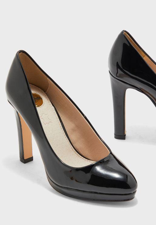 حذاء كعب بلاتفورم