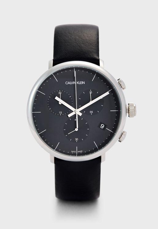 ساعة انالوج كرونوغراف جلد اصلي