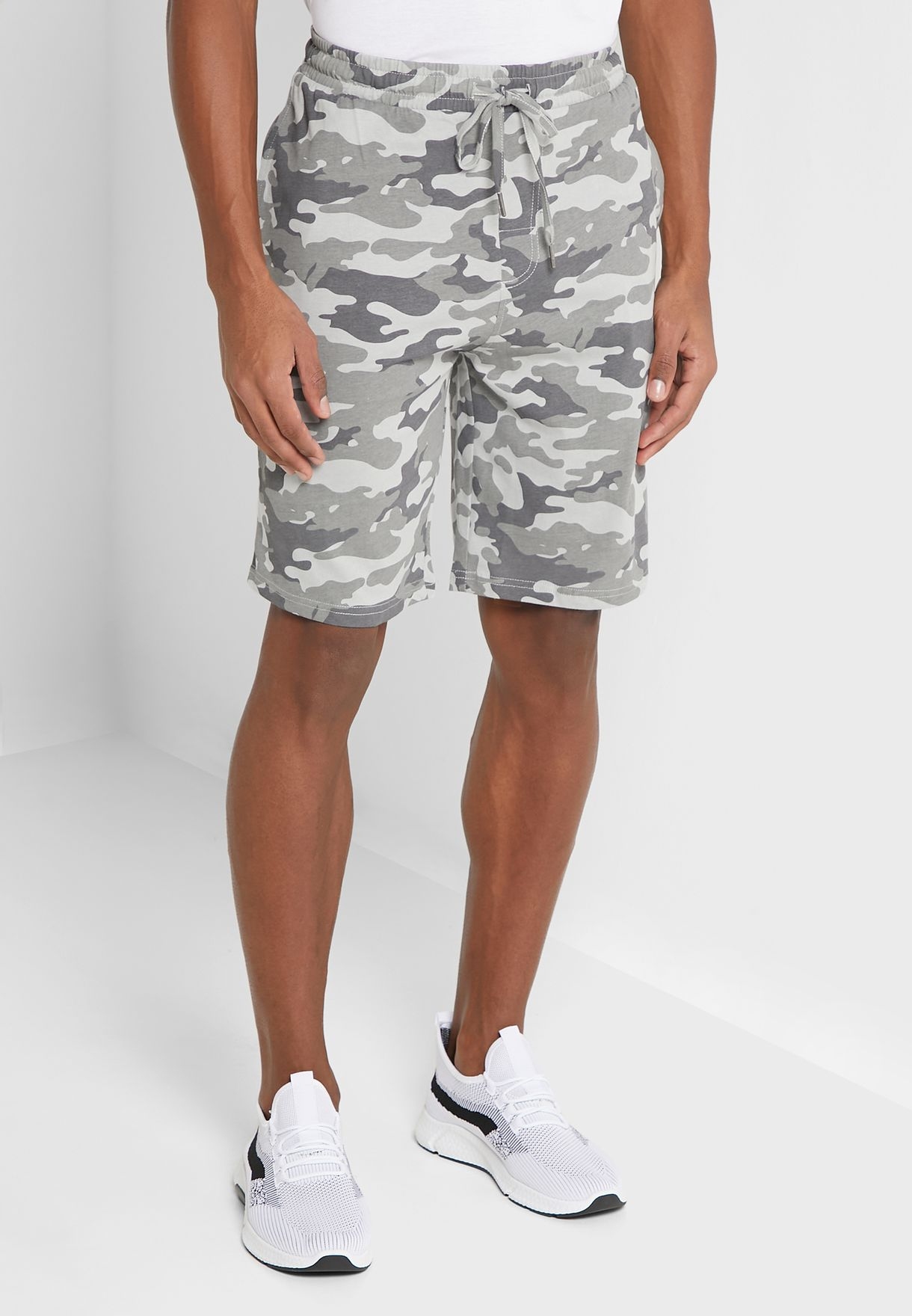 Men's Short With Printed Camo