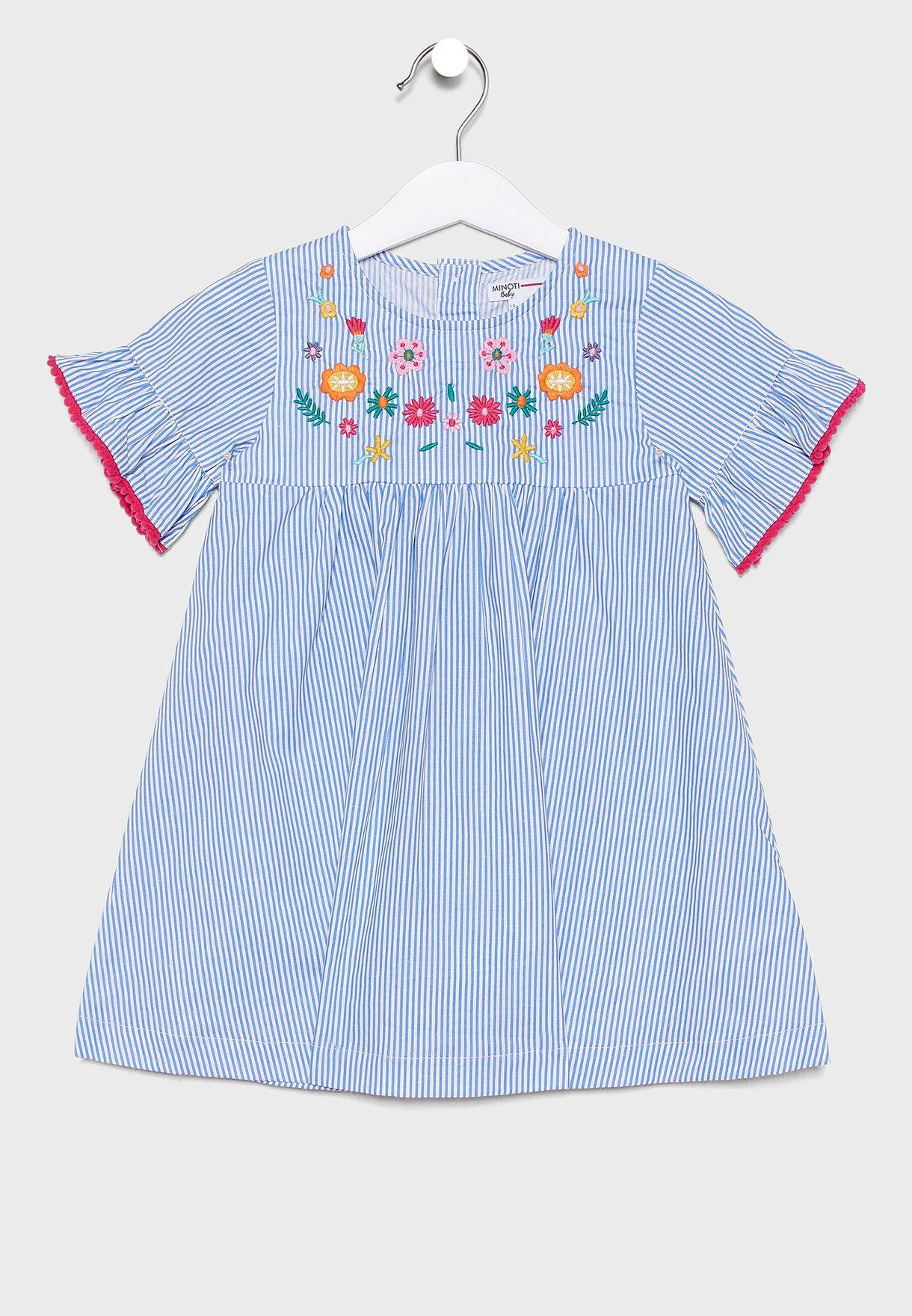 Kids Striped Dress+Knicker Set