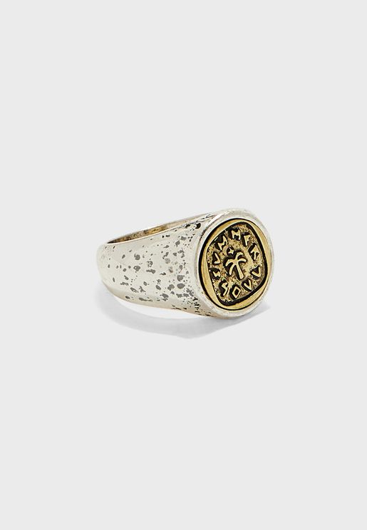 Summer Soul Embossed Signet Ring