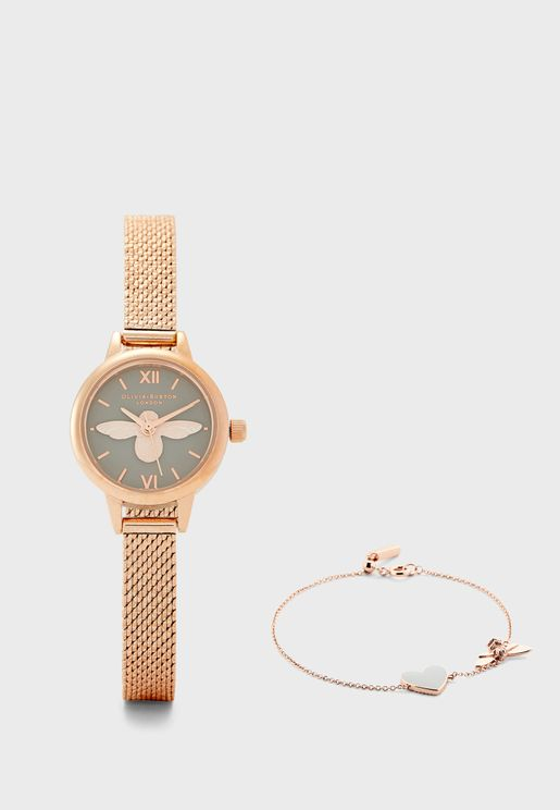Bracelet+Analog Watch
