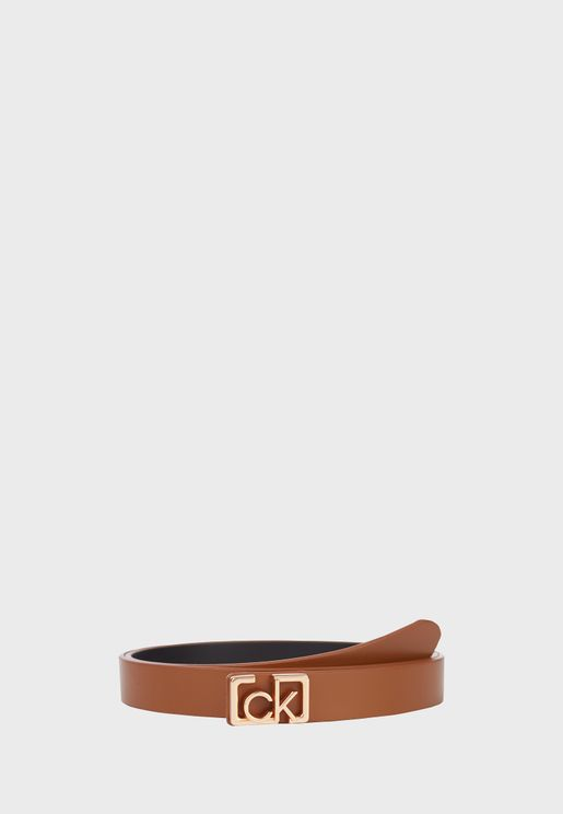 Logo Buckle Non Allocated Hole Belt