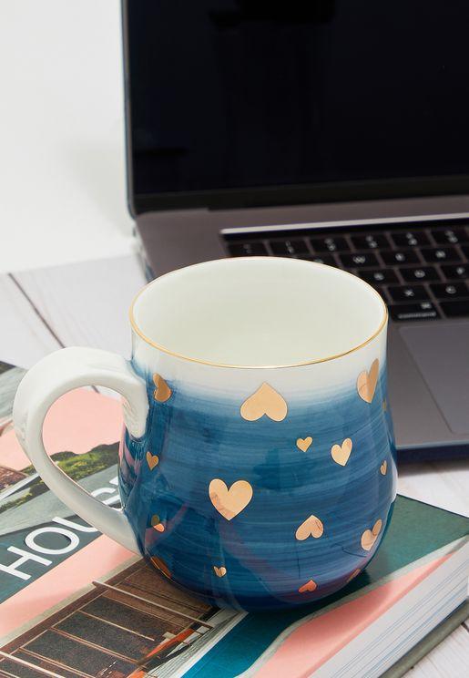 Ombre Hearts Mug