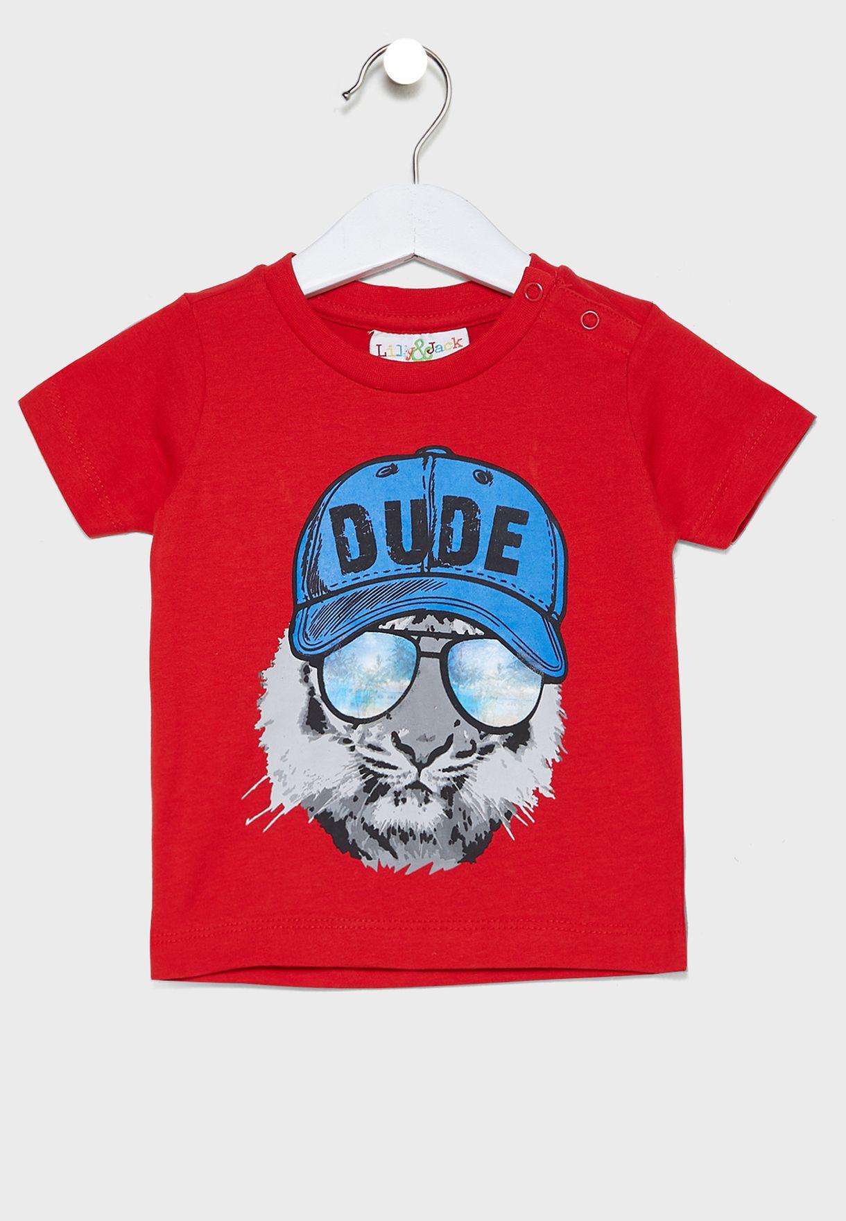 Infant Graphic T-Shirt + Jeans Set
