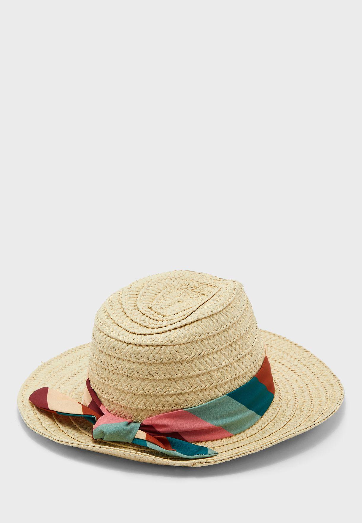 قبعة بوشاح للاطفال