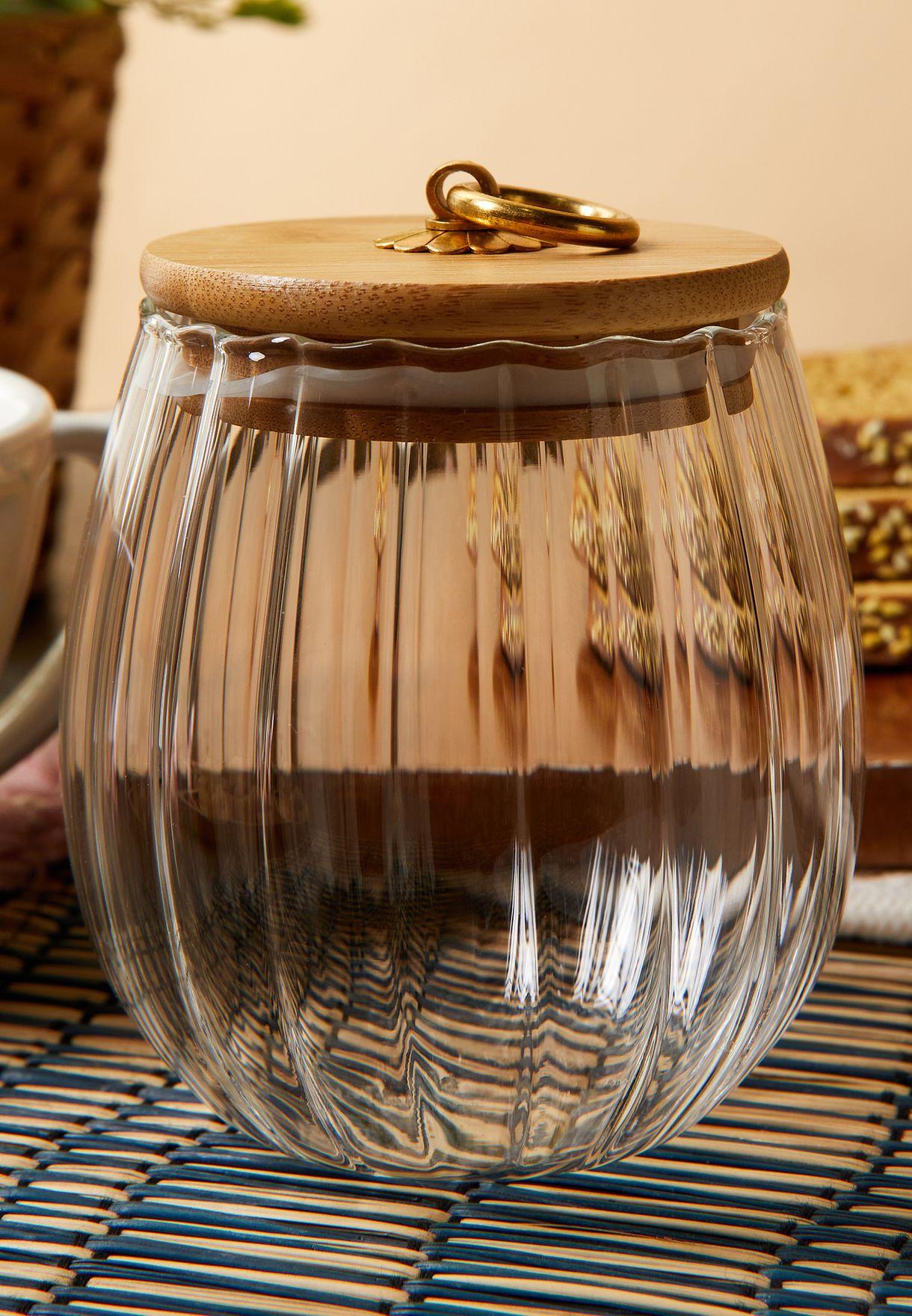 وعاء تخزين زجاج