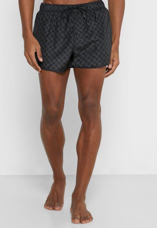 Mono Print Swim Shorts