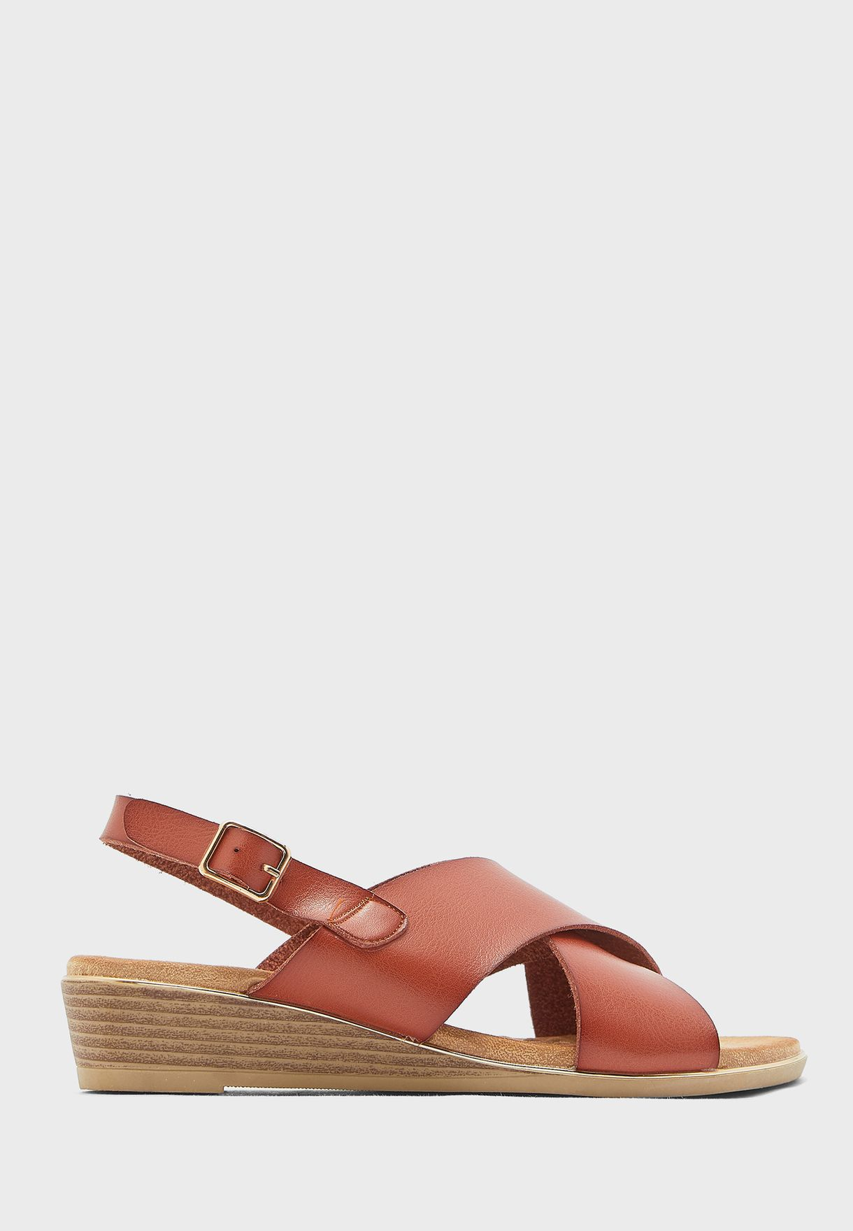 Sling Back Wedge Sandal