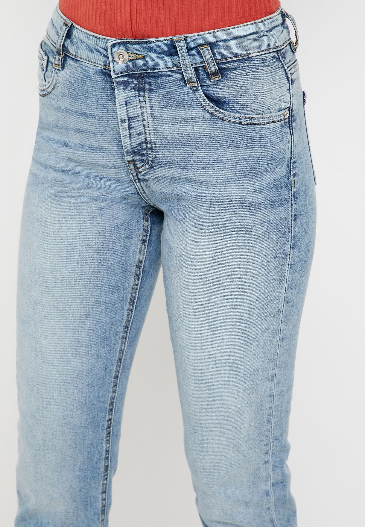 Bleached Skinny Jeans