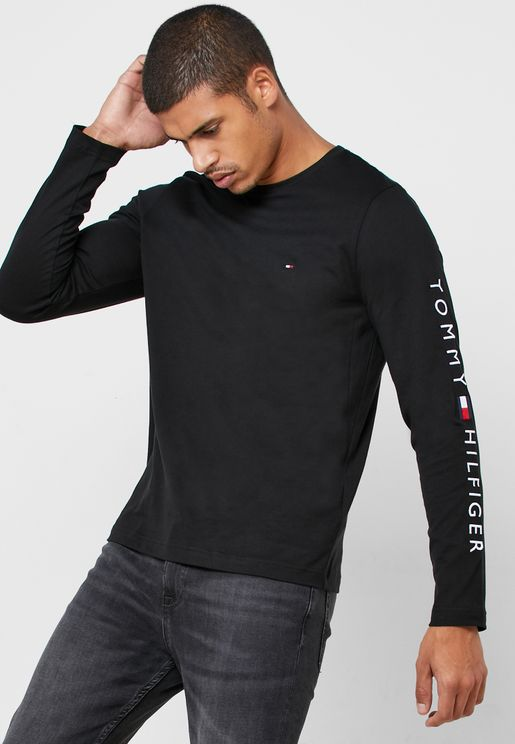 Sleeve Logo Crew Neck T-Shirt