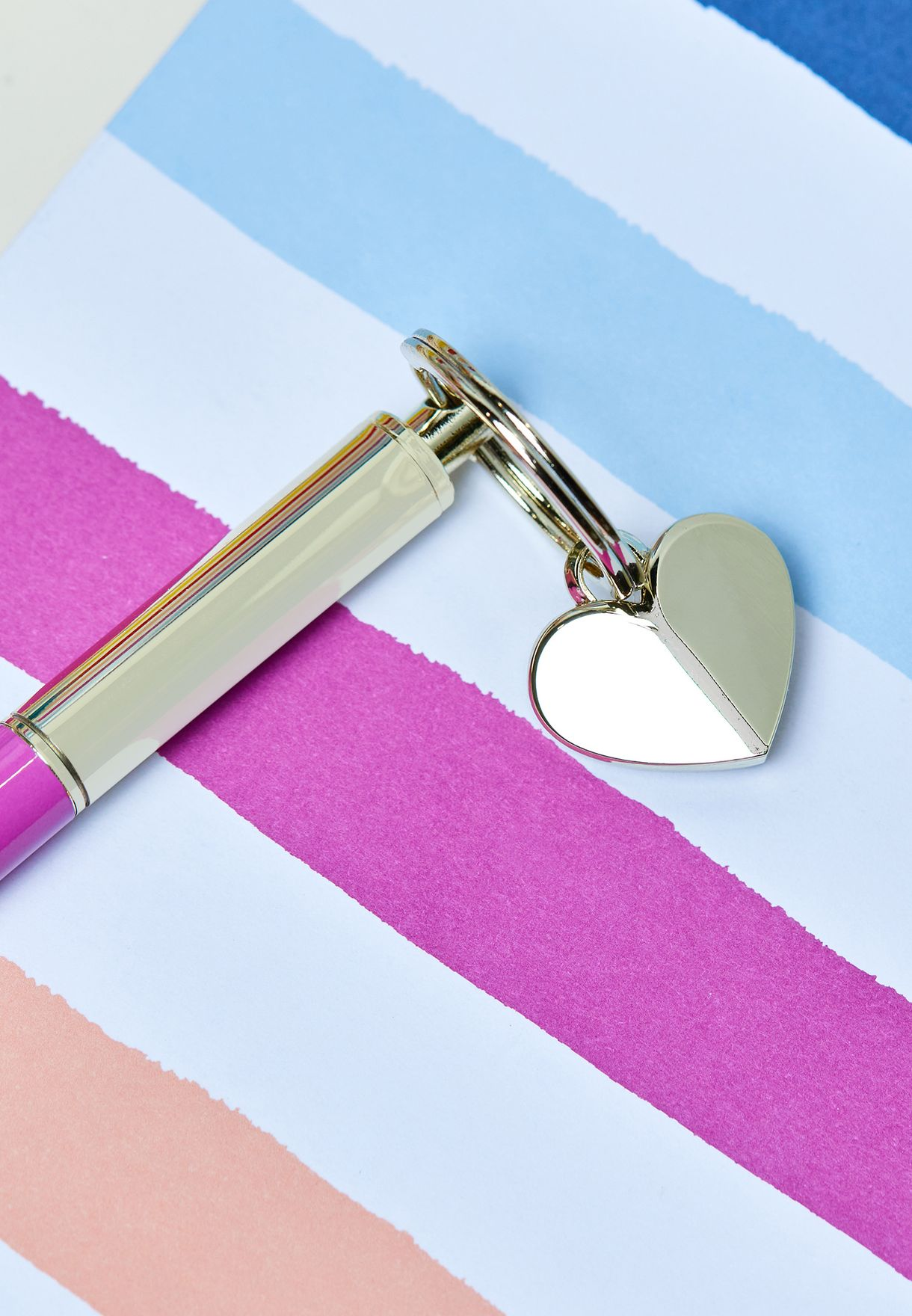 Candy Stripe Keyfob Pen