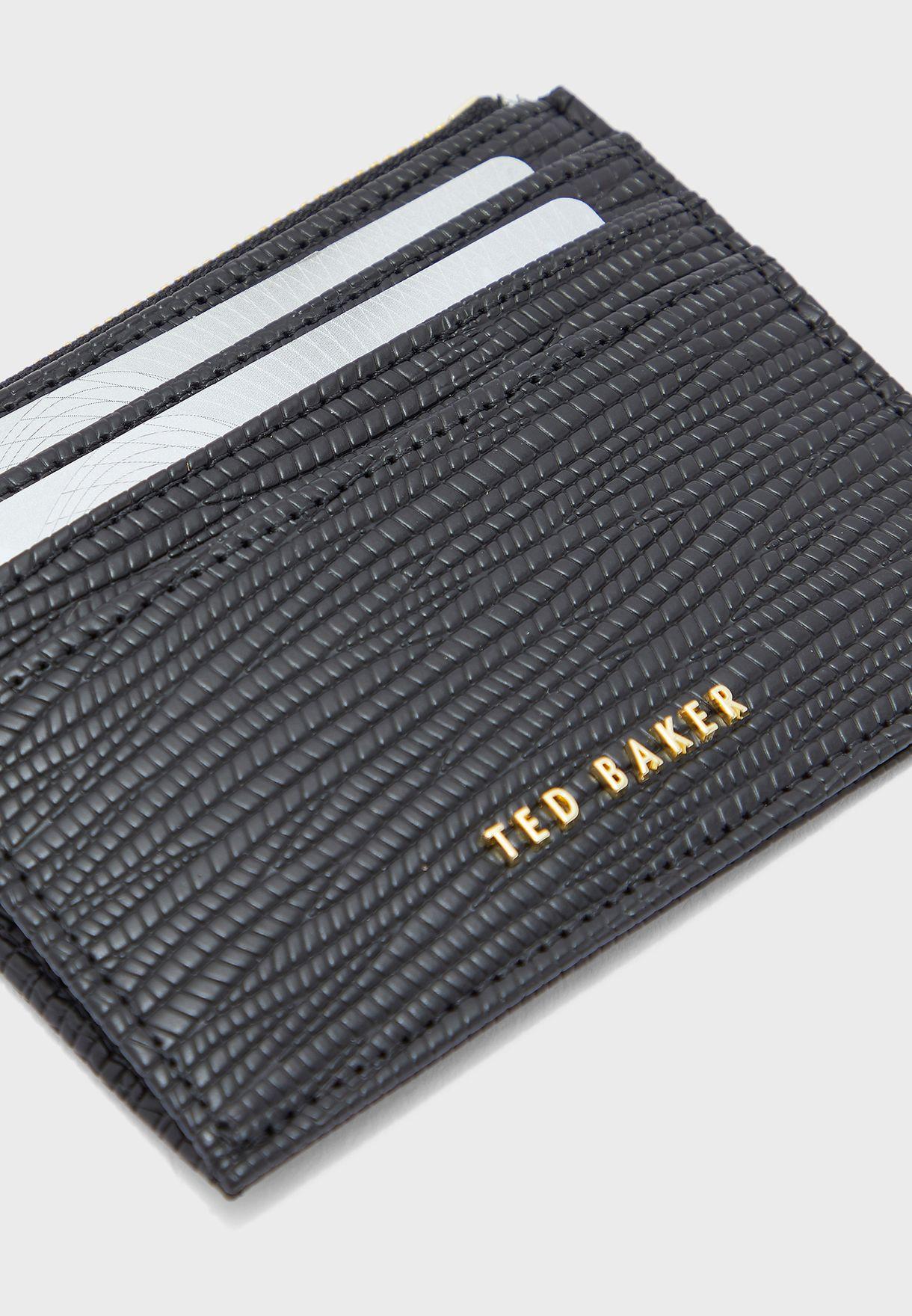 محفظة بطاقات بسحاب