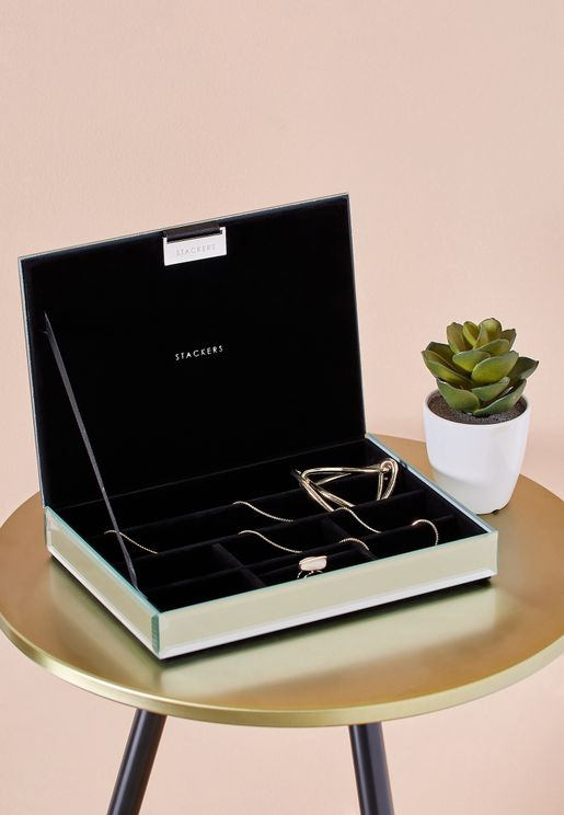 Jewellery Box With Glass Lid