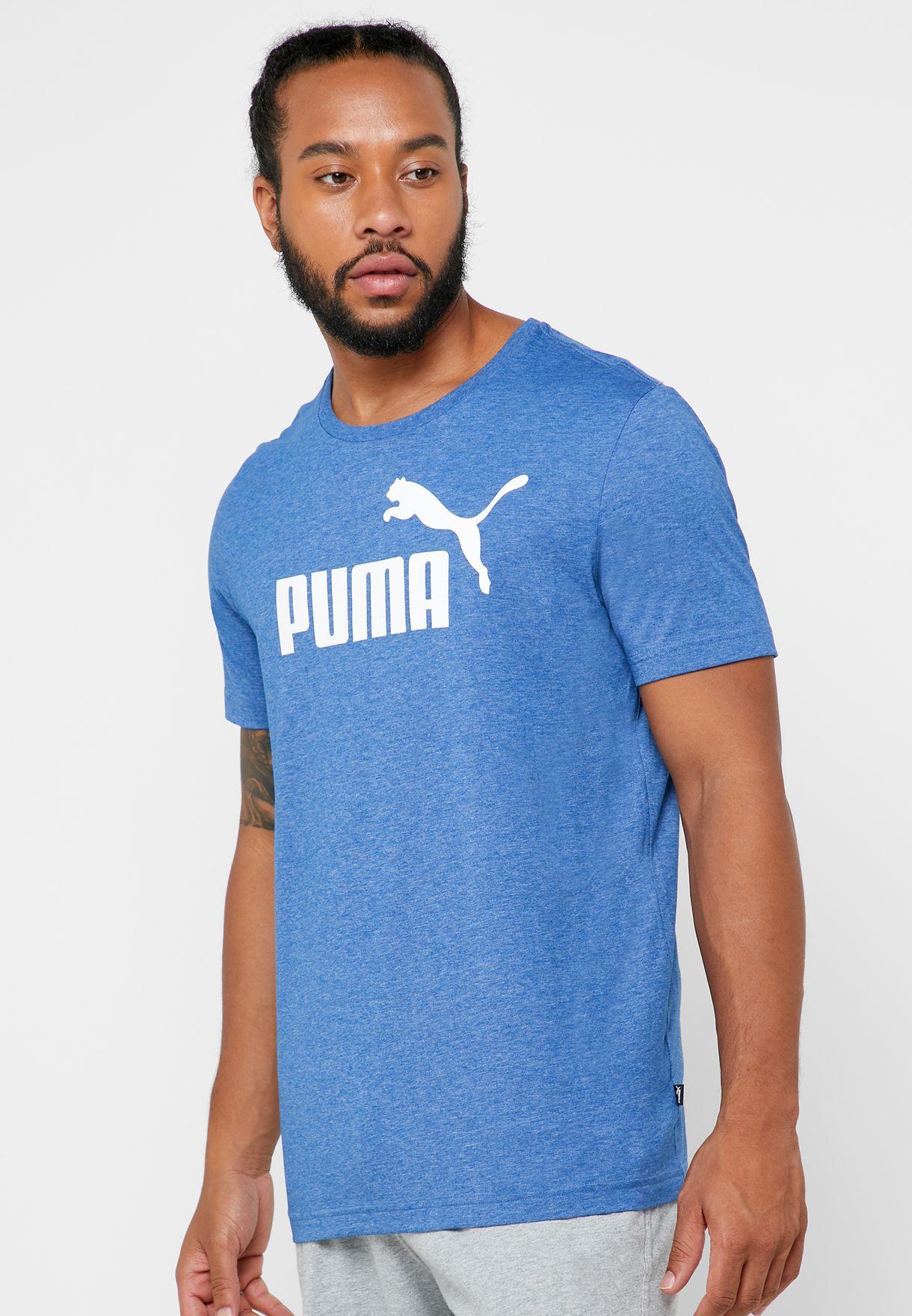 Cíclope Al borde consumirse  Buy PUMA blue Logo T-Shirt for Men in MENA, Worldwide   85241939