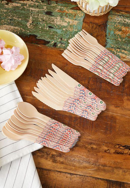Wood Cutlery Mandala