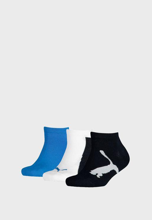 Kids 3 Pack Sneaker Socks