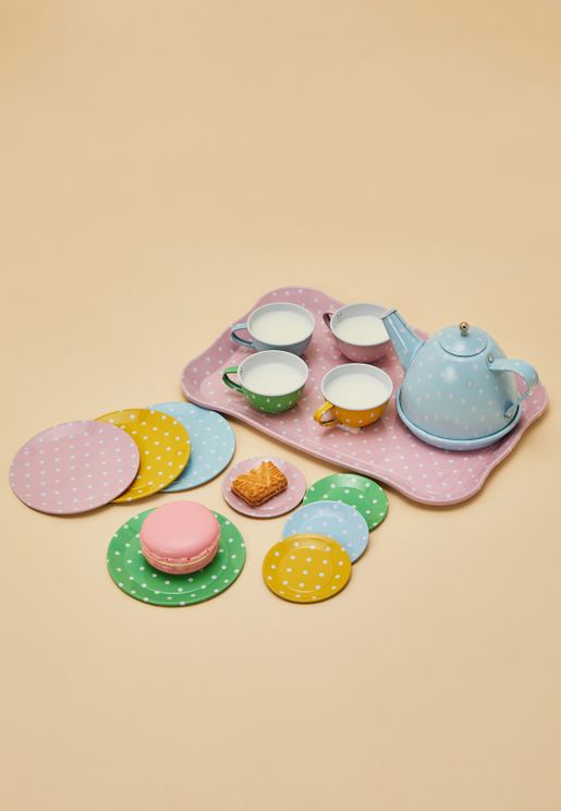 Dotty Tin Tea Set