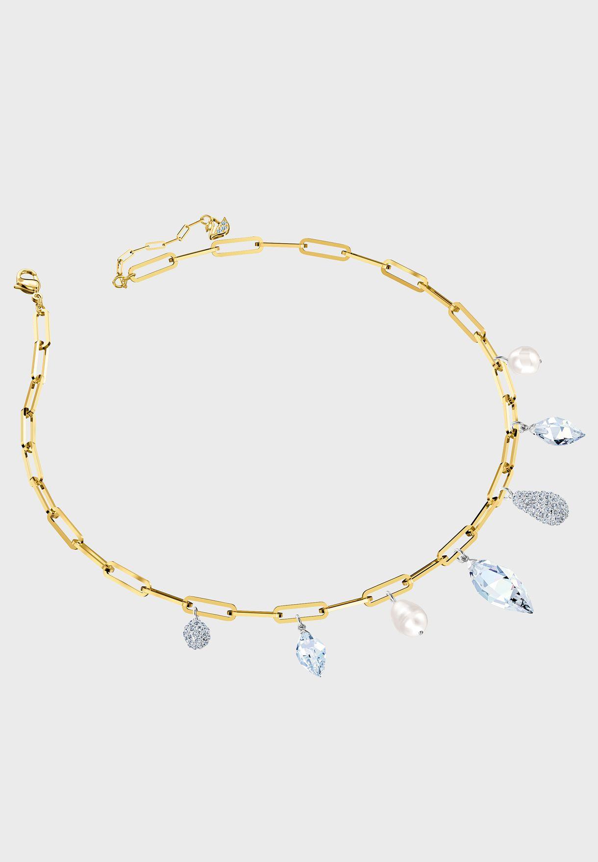 Organic Pearl Pendant Choker