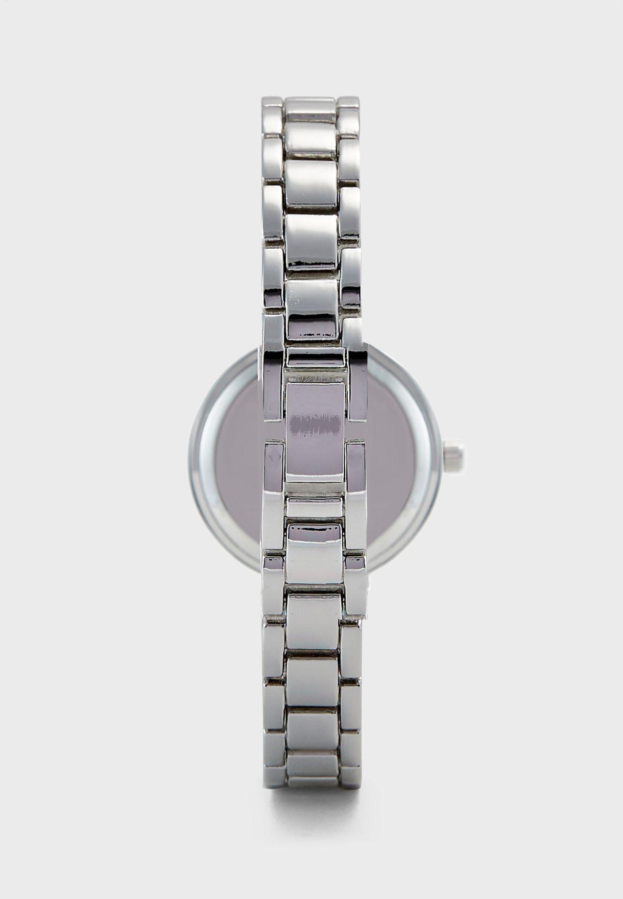 Two Tone Stone Set Bracelet Watch