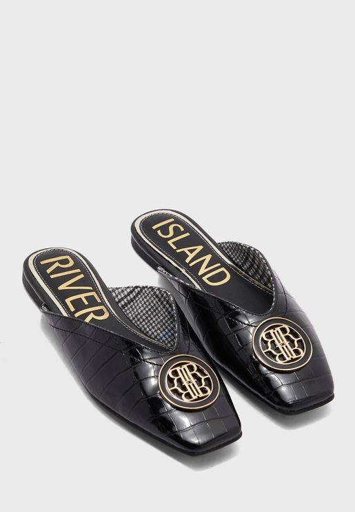 Square Toe Decal Slip On
