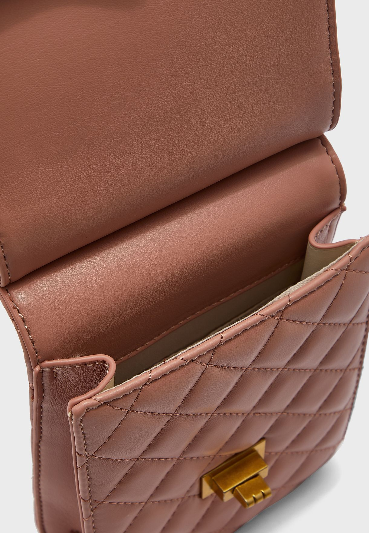 Quilted Flap Crossbody