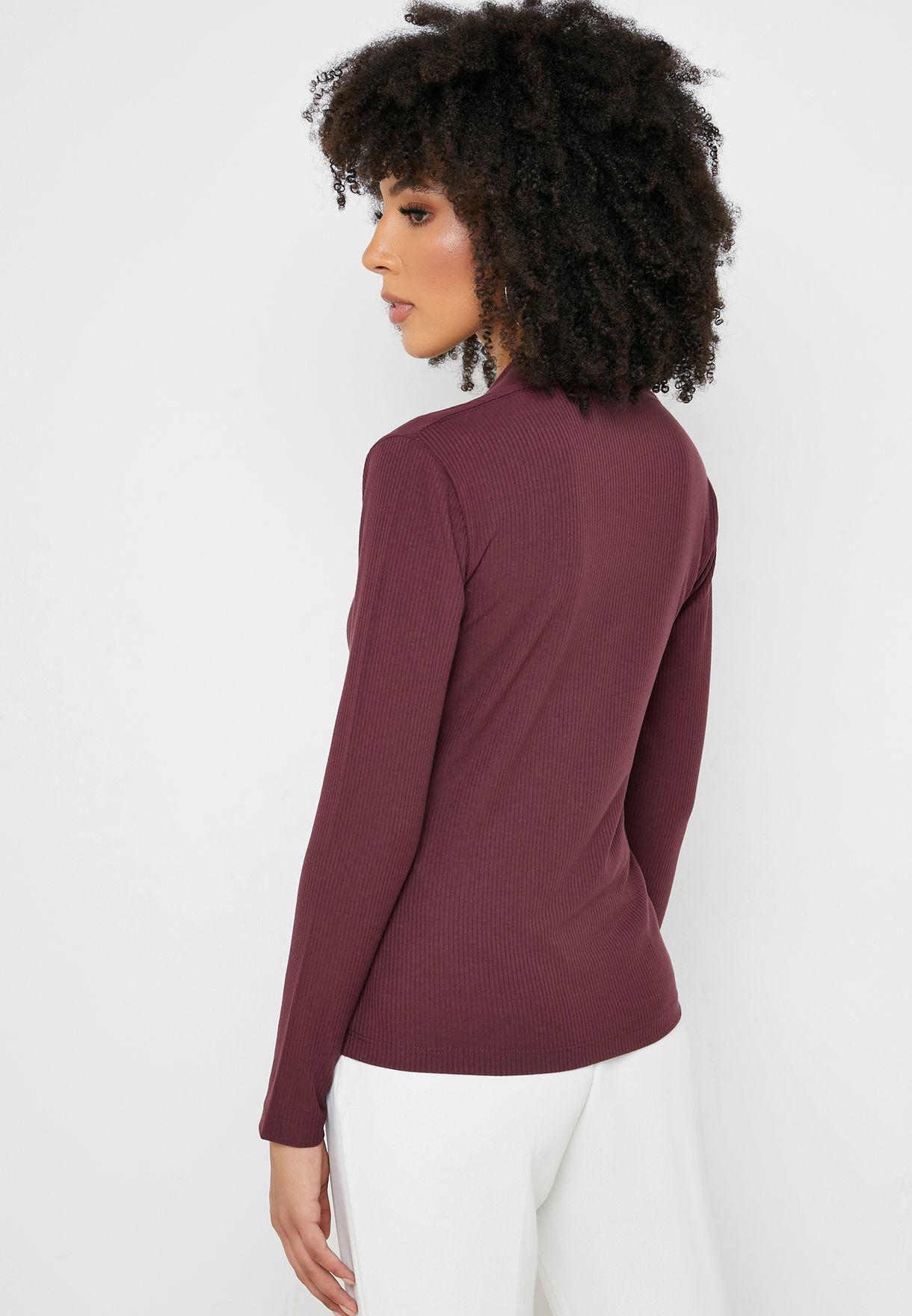 V-Neck Long Sleeve Top