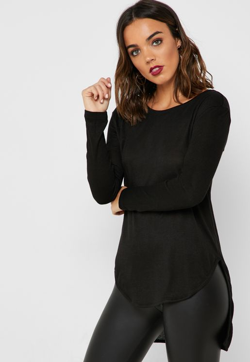 High Low Long Sleeve T-Shirt