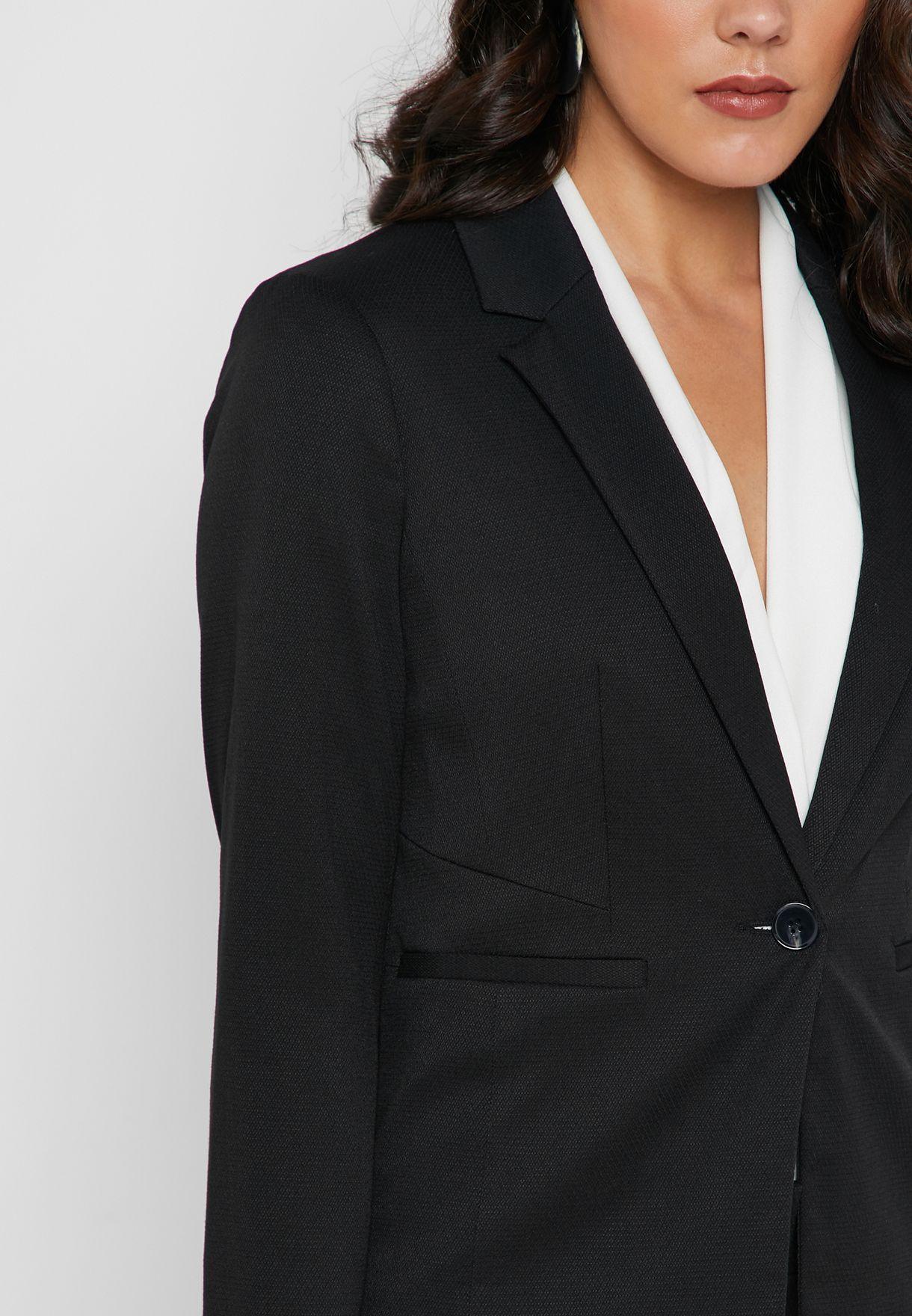 Black Textured Jacket
