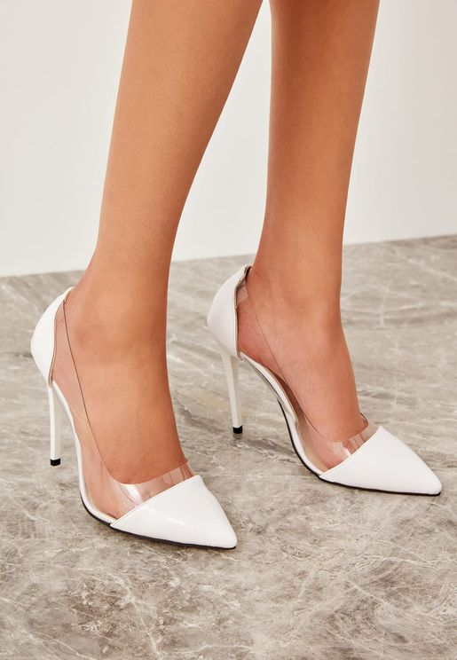 Milla Transparent Detail Pump - White