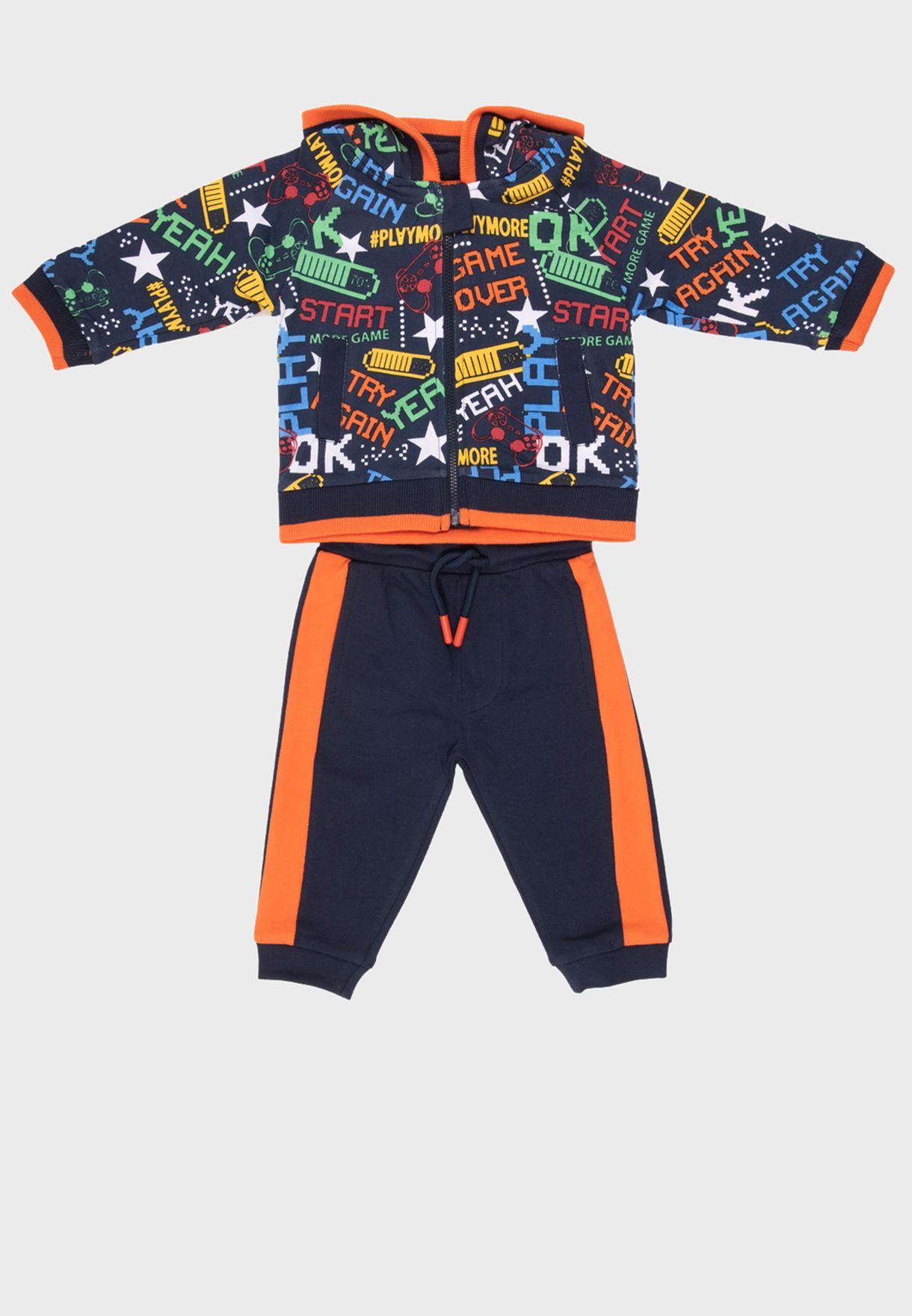 Kids Graphic T-Shirt + Sweatpants Set
