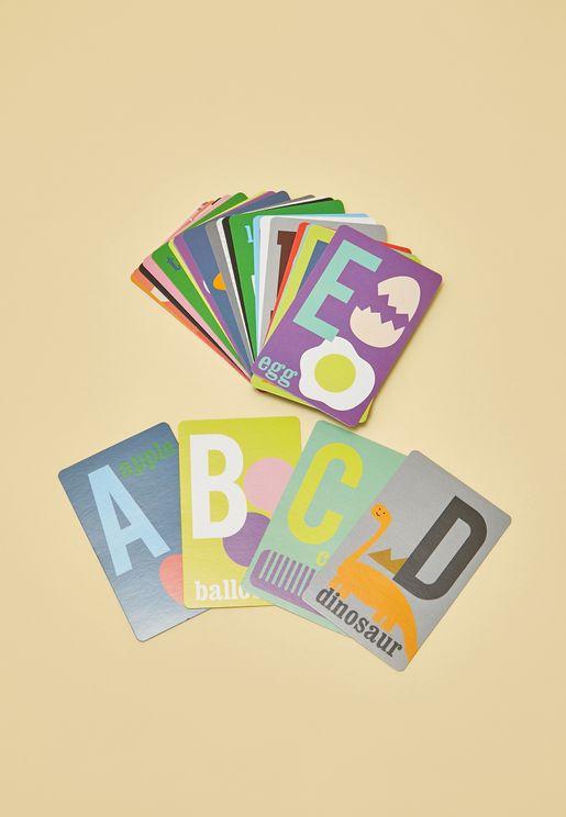 بطاقات لتعلم الابجدية الانجليزية