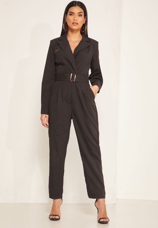 Monet Belted Wrap Jumpsuit