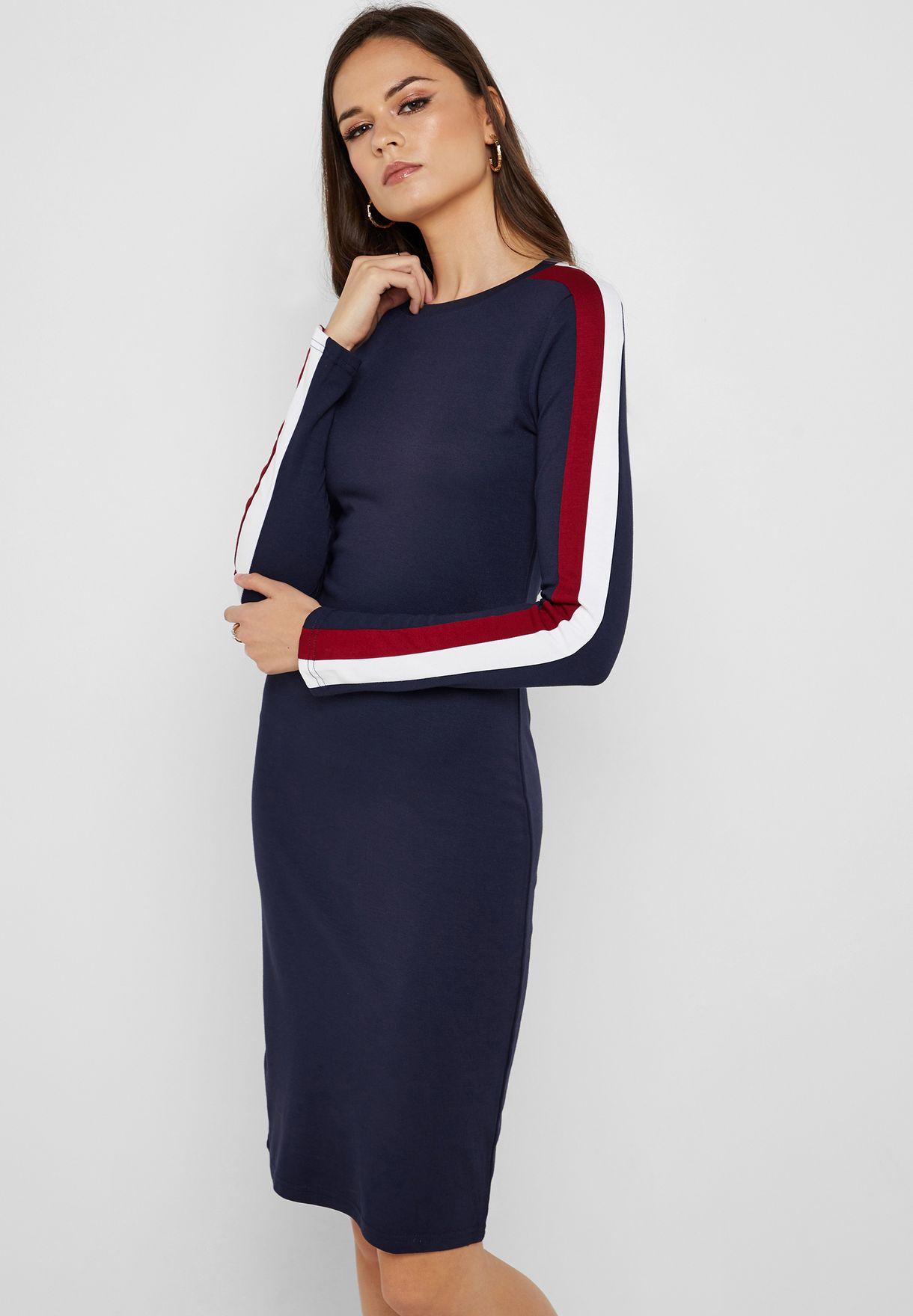 e91e79b33 تسوق فستان ميدي كاجوال ماركة جينجر لون كحلي LDRJ-225SADIE في ...