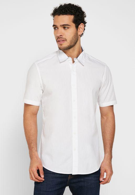 قميص اكسفورد باكمام قصيرة