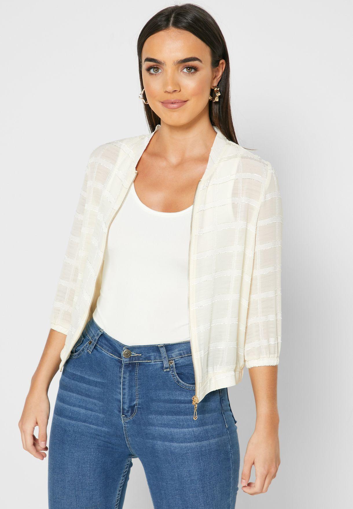 Organza Zip Through Jacket