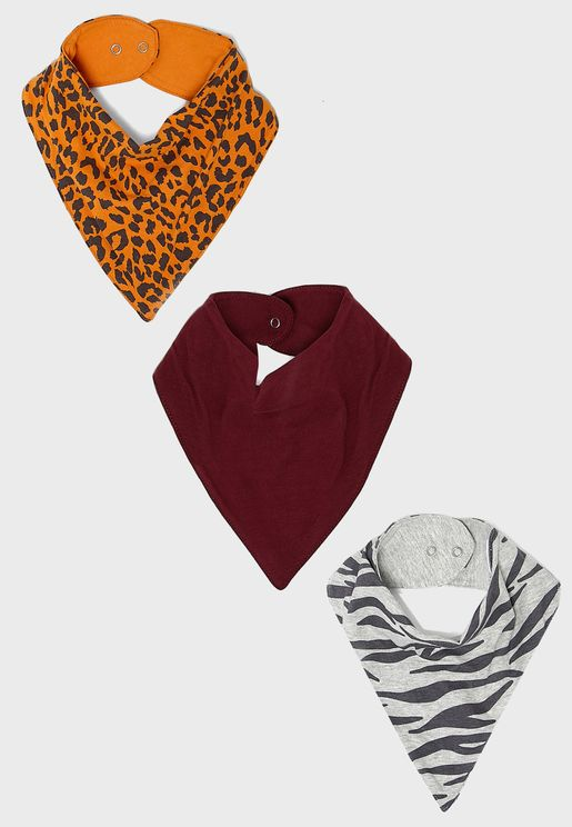 Infant 3 Pack Bandana Bib