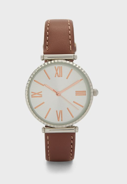 Numerals T-Bar Strap Watch